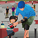 Father Teaching Son Skateboarding - GraphicRiver Item for Sale