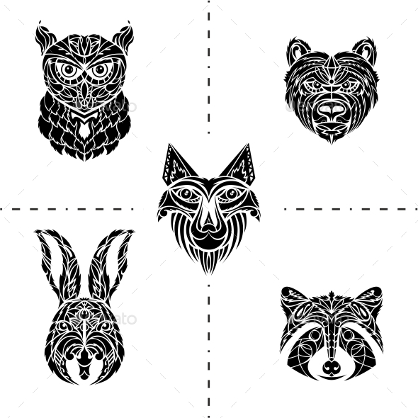 GraphicRiver Animals Tattoo 10119514