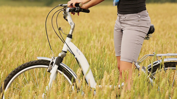 VideoHive Girl With Bicycle 11 10119532
