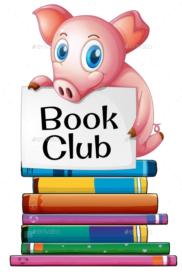 GraphicRiver Pig and Books 10119549