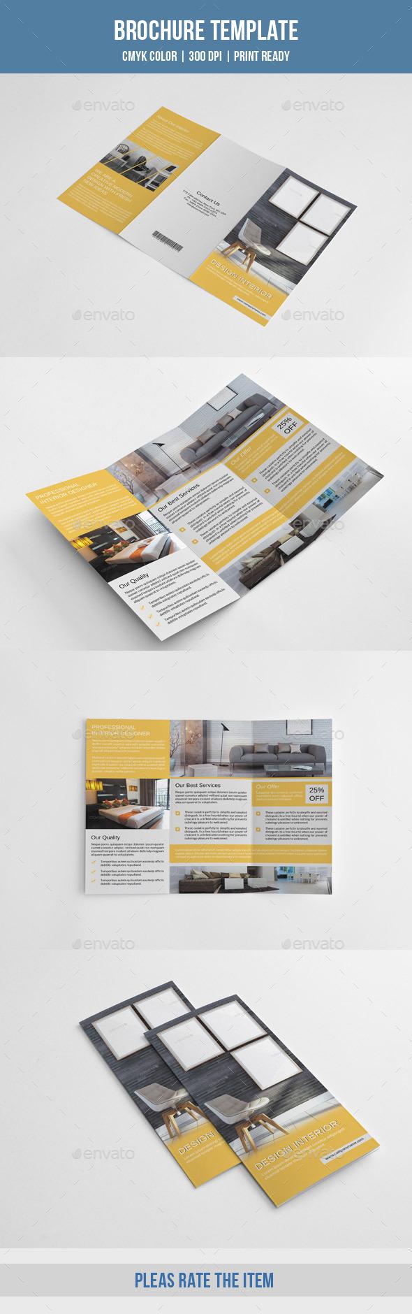 GraphicRiver Minimal Interior Trifold-V219 10119747