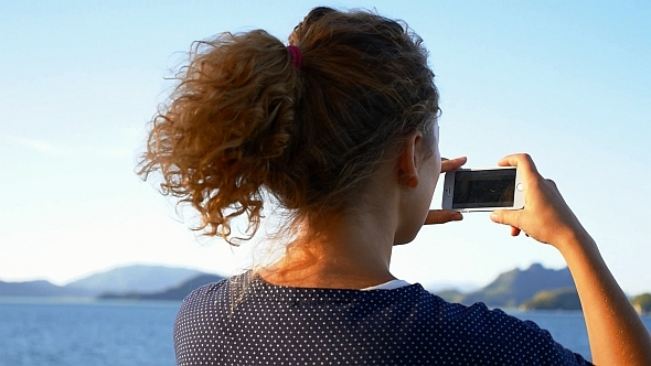 VideoHive SmartPhone Taking Photo from the Ship 10119820