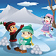 Kids Playing with Snow - GraphicRiver Item for Sale