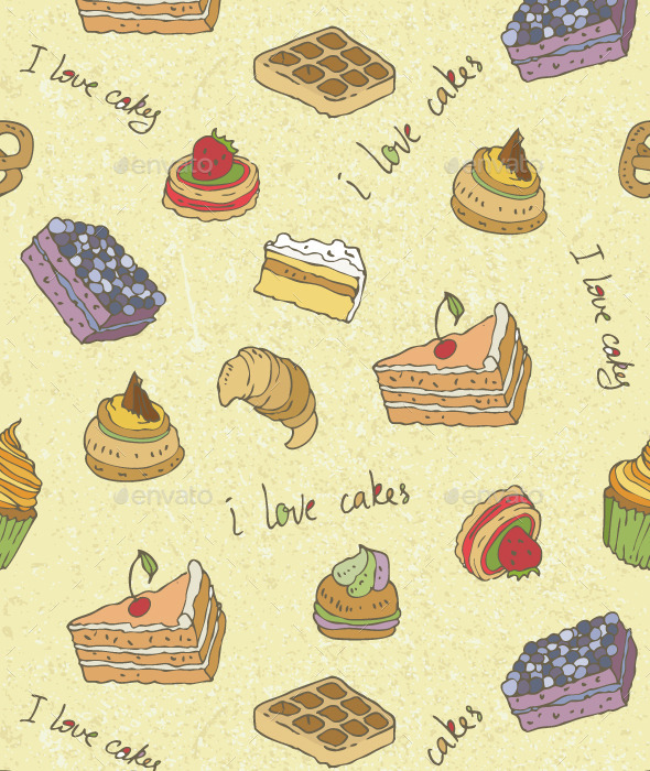 GraphicRiver Cakes Pattern 10120623