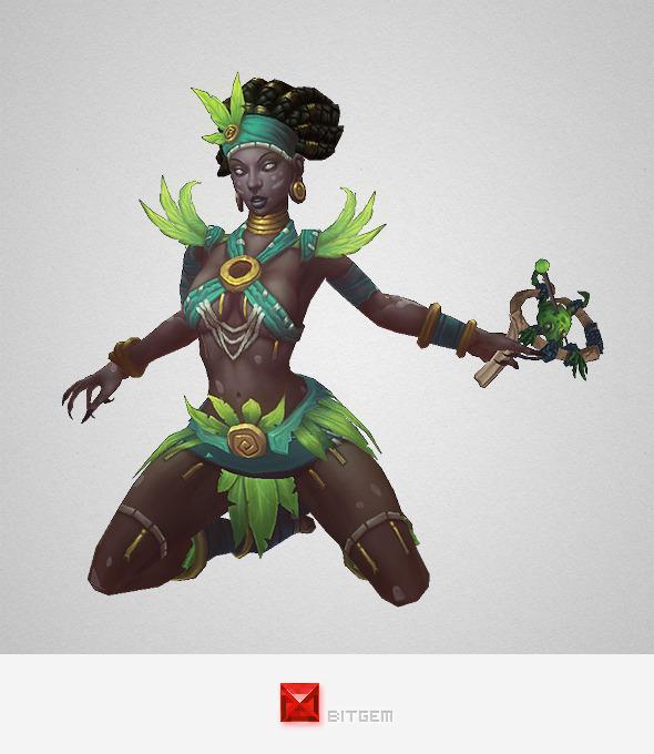 3DOcean Low Poly Voodoo Priestess 10120812
