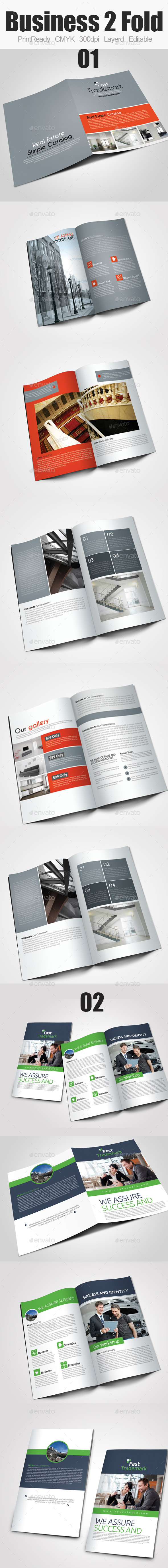 GraphicRiver Bi Fold Business Brochure Bundle 10121095