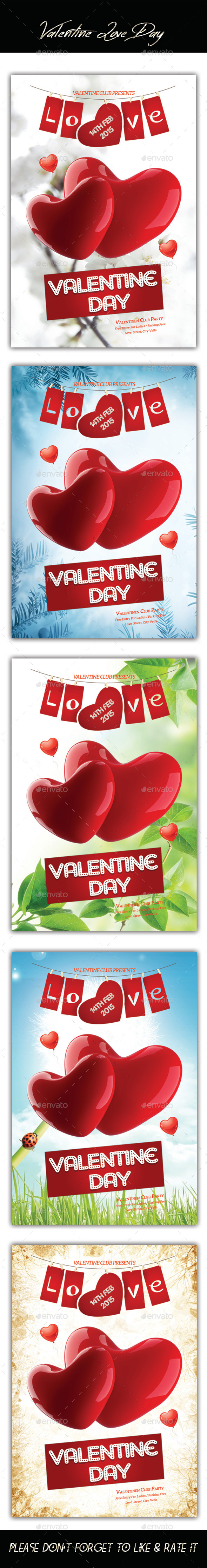 GraphicRiver Valentines Love Day Flyer 10121146