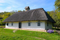 old farmhouse with a thatched roof - PhotoDune Item for Sale