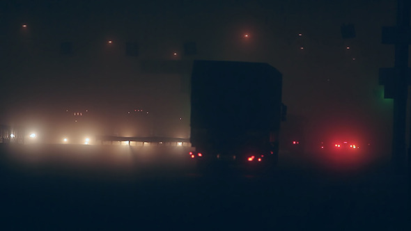 VideoHive Fog Night Traffic in City 02 10121297