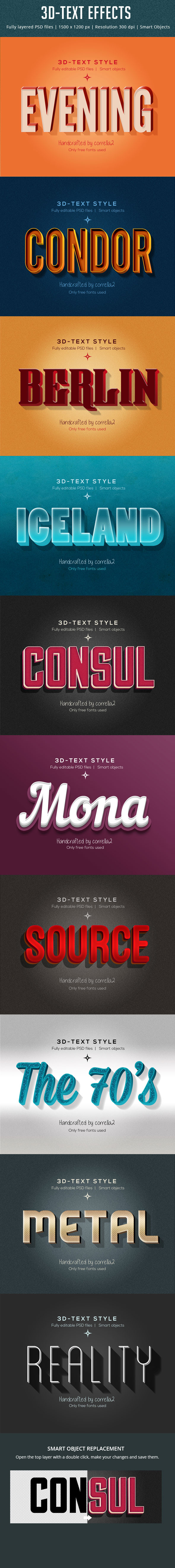 GraphicRiver 10 3D-Text Styles 10121424