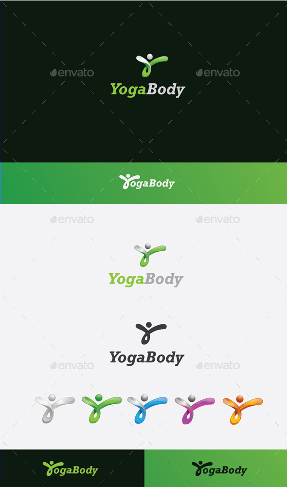 GraphicRiver Yoga Body Logo 10080524