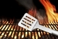 Spatula on the Flaming BBQ Grill - PhotoDune Item for Sale