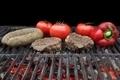 Grilled Fillet Steak, Bratwurst and Vegetables - PhotoDune Item for Sale