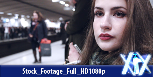 VideoHive Woman In The Subway Station 10121609