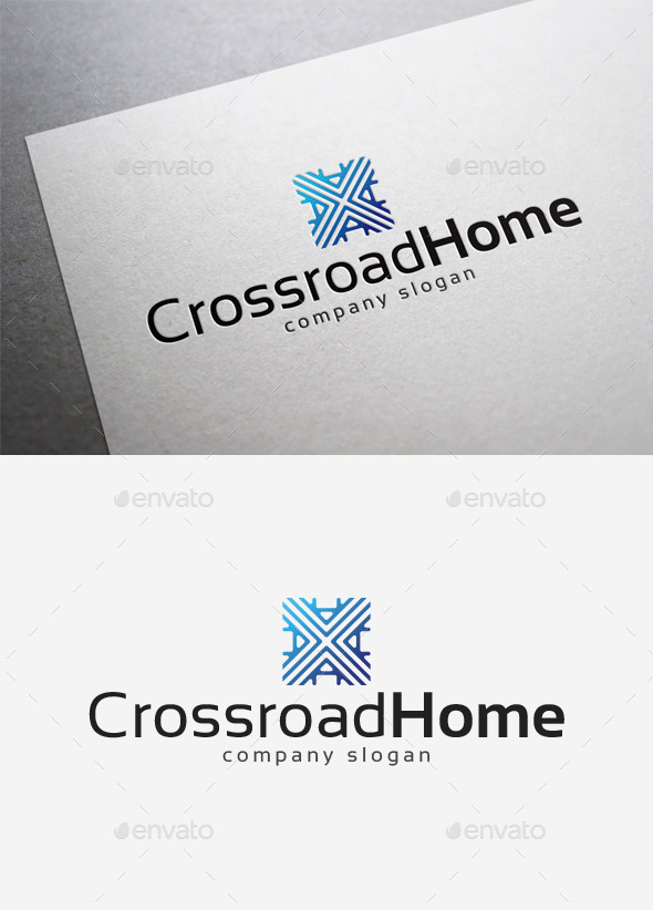 GraphicRiver Crossroad Home Logo 10121915