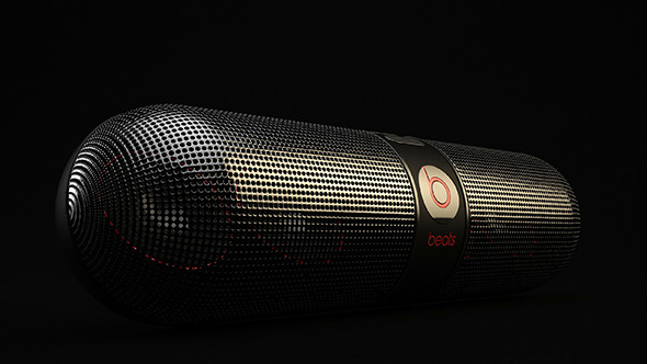 3DOcean Beats Audio Pill Speakers 10122051
