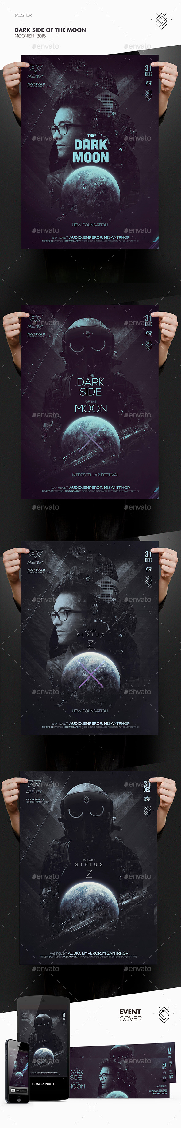 Dark Side of the Moon Poster (GraphicRiver – 10075477)