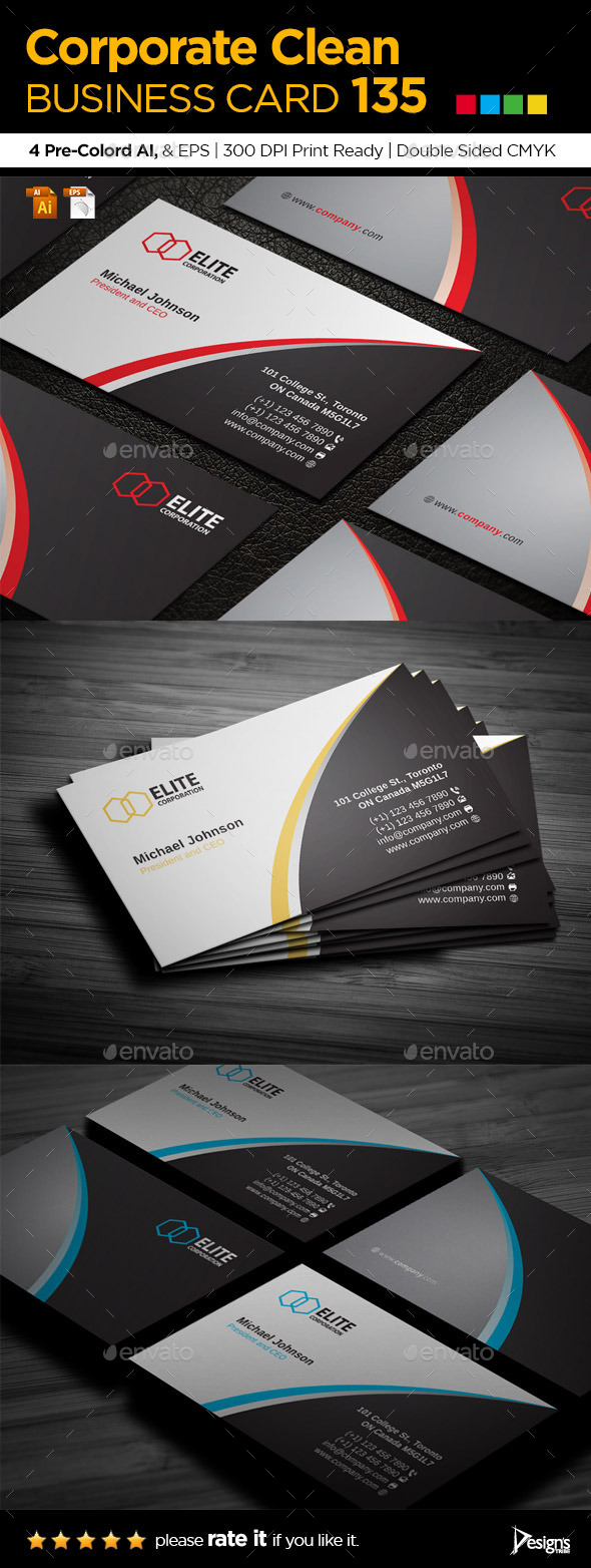GraphicRiver Business Card 135 10122131