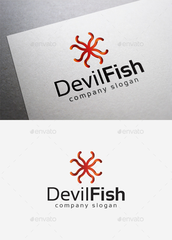 GraphicRiver Devilfish Logo 10122717
