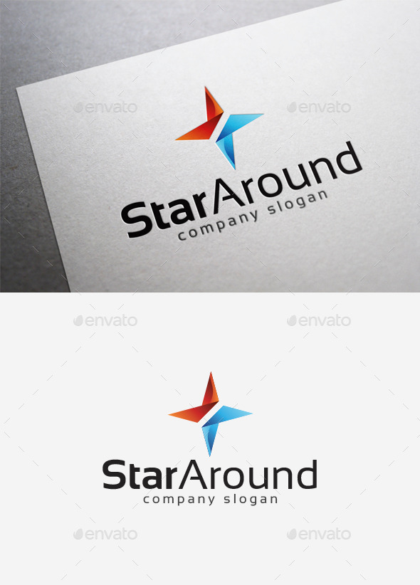 GraphicRiver Star Around Logo 10122760
