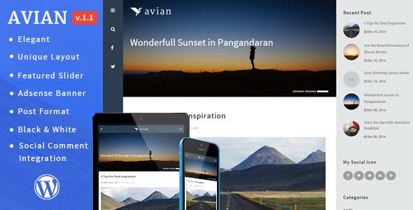 Avian - Elegant Personal Blog