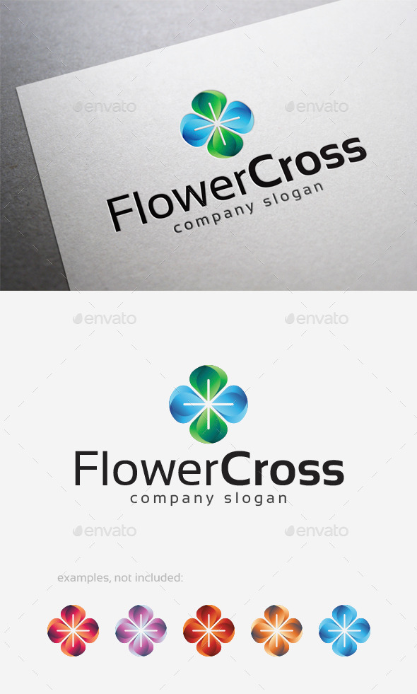 GraphicRiver Flower Cross Logo 10122871