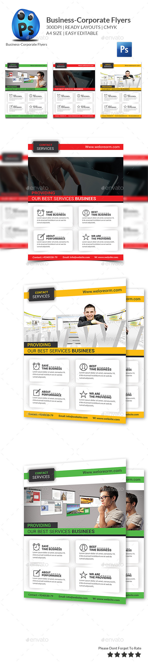 GraphicRiver Corporate Business Flyer Template 10123053