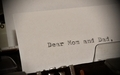 Text Dear Mom and Dad typed on old typewriter - PhotoDune Item for Sale
