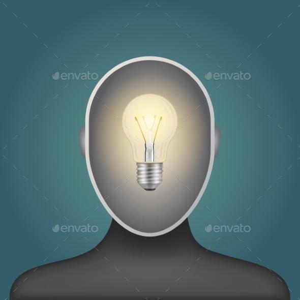 GraphicRiver Light Bulb in a Head 10123887