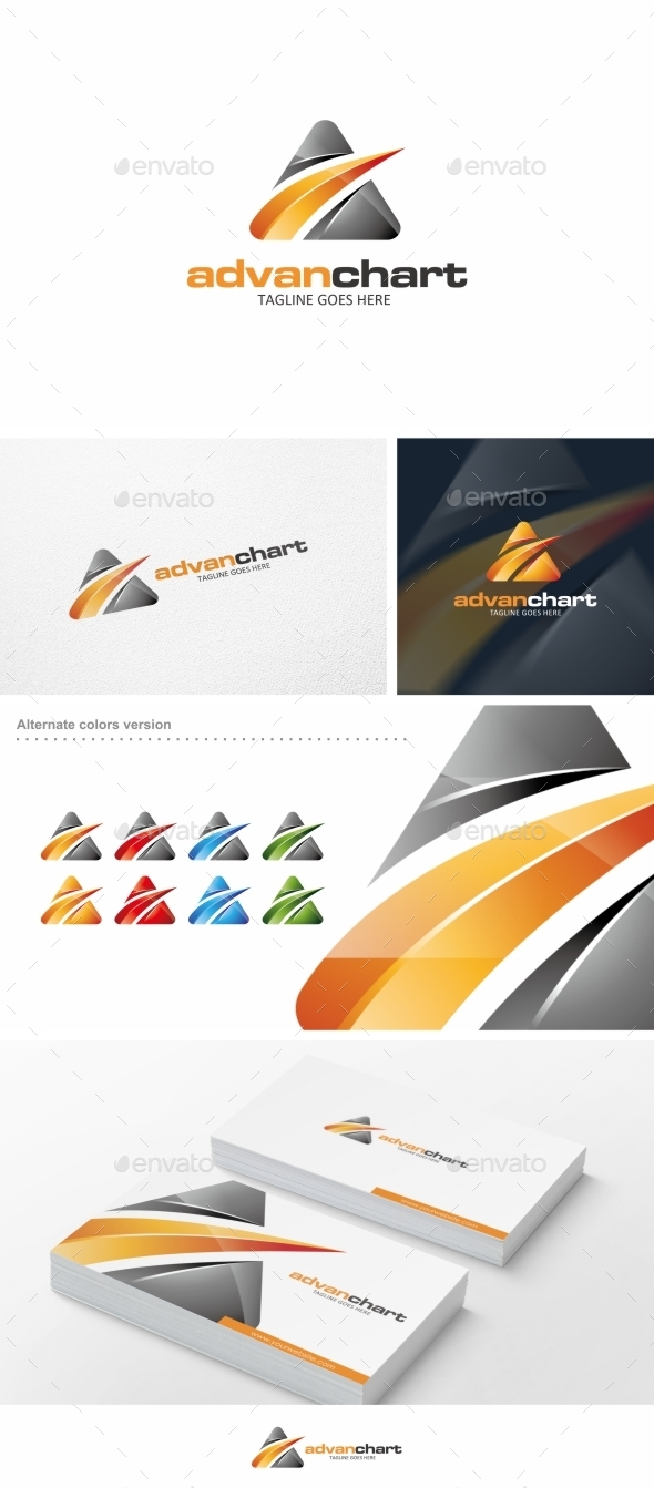 GraphicRiver Advan Chart Logo Template 10124054