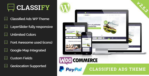 Classify - Classified Ads WordPress Theme - Directory & Listings Corporate
