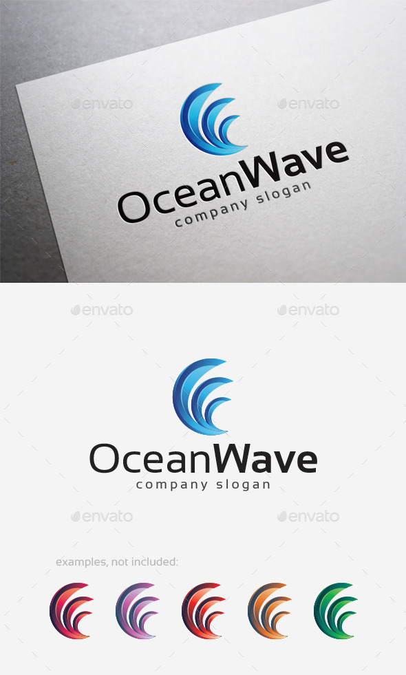GraphicRiver Ocean Wave Logo 10124518