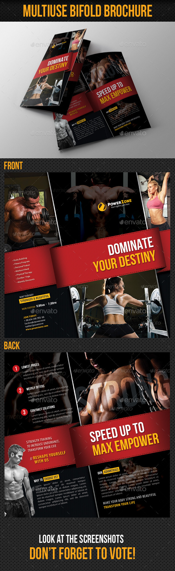 GraphicRiver Sport Activity Bifold Brochure 10124545