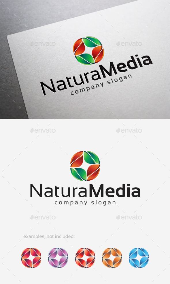 GraphicRiver Natura Media Logo 10124557