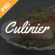 Culinier - Modern Food Recipe PSD Template