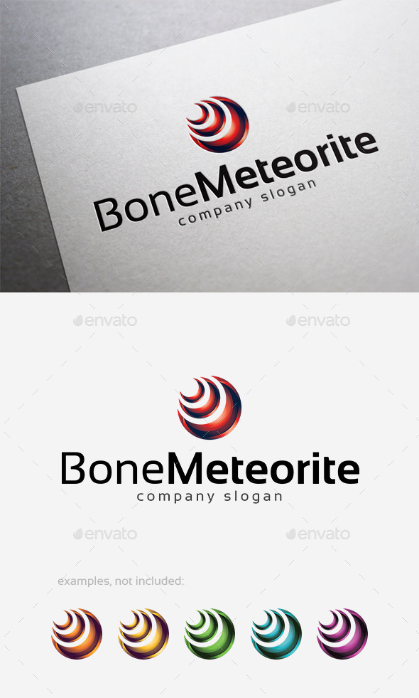 GraphicRiver Bone Meteorite Logo 10124697