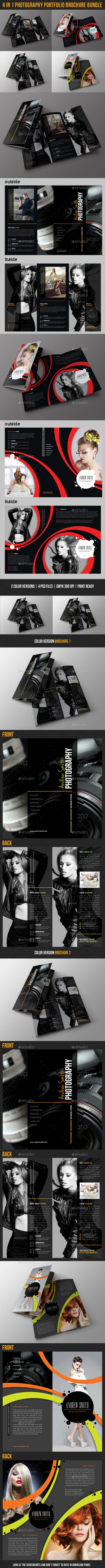 GraphicRiver 4 in 1 Photography Portfolio Brochure Bundle 02 10124765