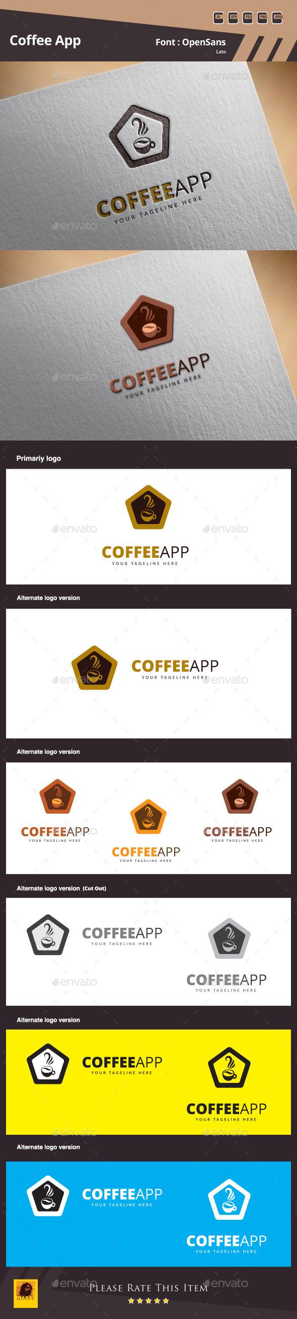 GraphicRiver Coffee App Logo Template 10124769
