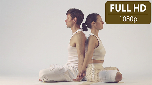 VideoHive Couple Doing Yoga Exercises 10124887