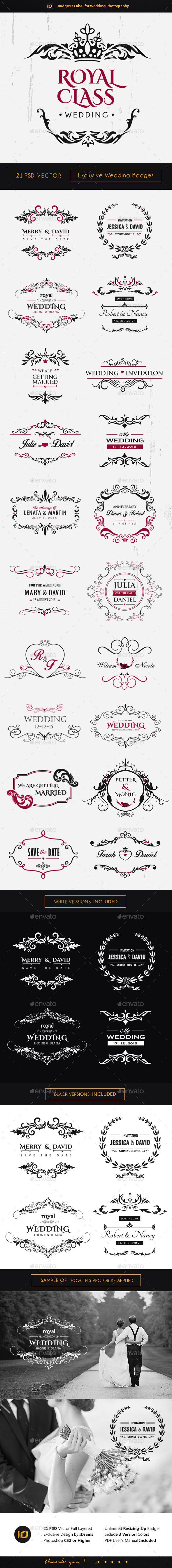 GraphicRiver 21 Premium Wedding Badges 10093124