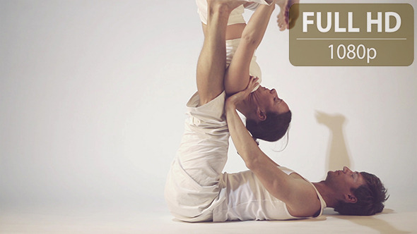 VideoHive Couple Doing Yoga Exercises 1 10124966