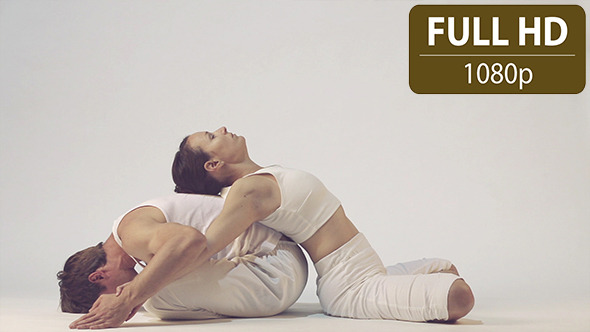 VideoHive Couple Doing Yoga Exercises 2 10124986