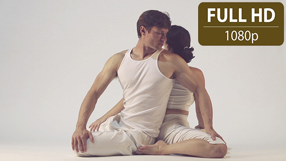 VideoHive Couple Doing Yoga Exercises 3 10124994