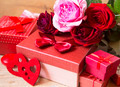 Red Roses and Gifts for Valentine's Day