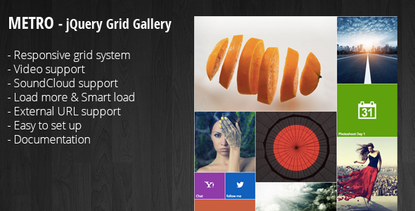 CodeCanyon Metro jQuery Grid Portfolio 10125166