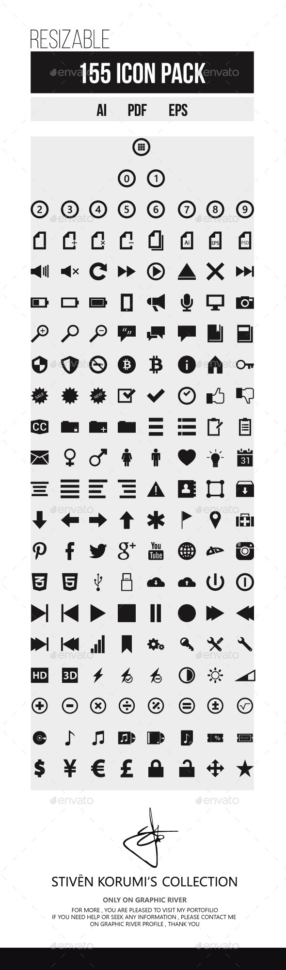 GraphicRiver 155 Icon Pack 10125227