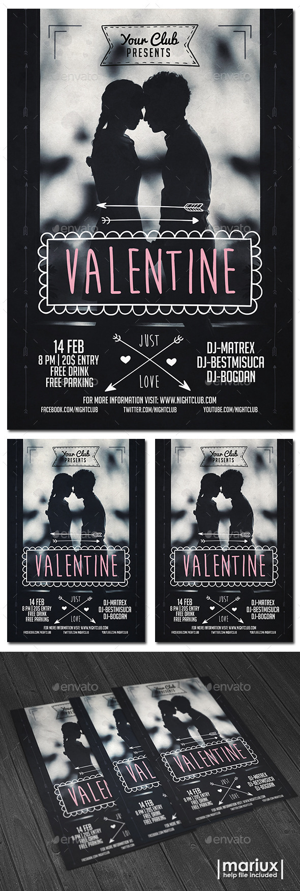 GraphicRiver Valentine Flyer 10098529