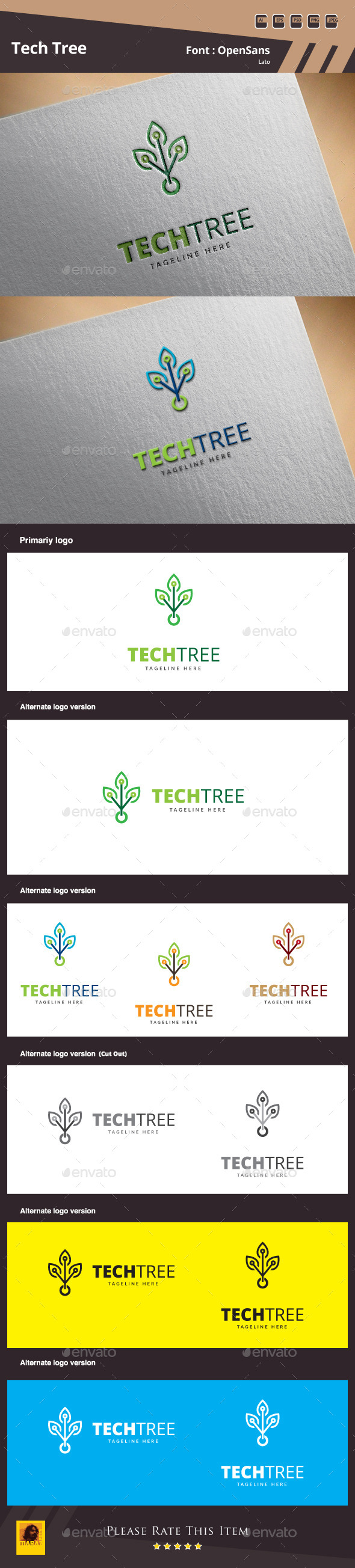 GraphicRiver Tech Tree Logo Template 10125509