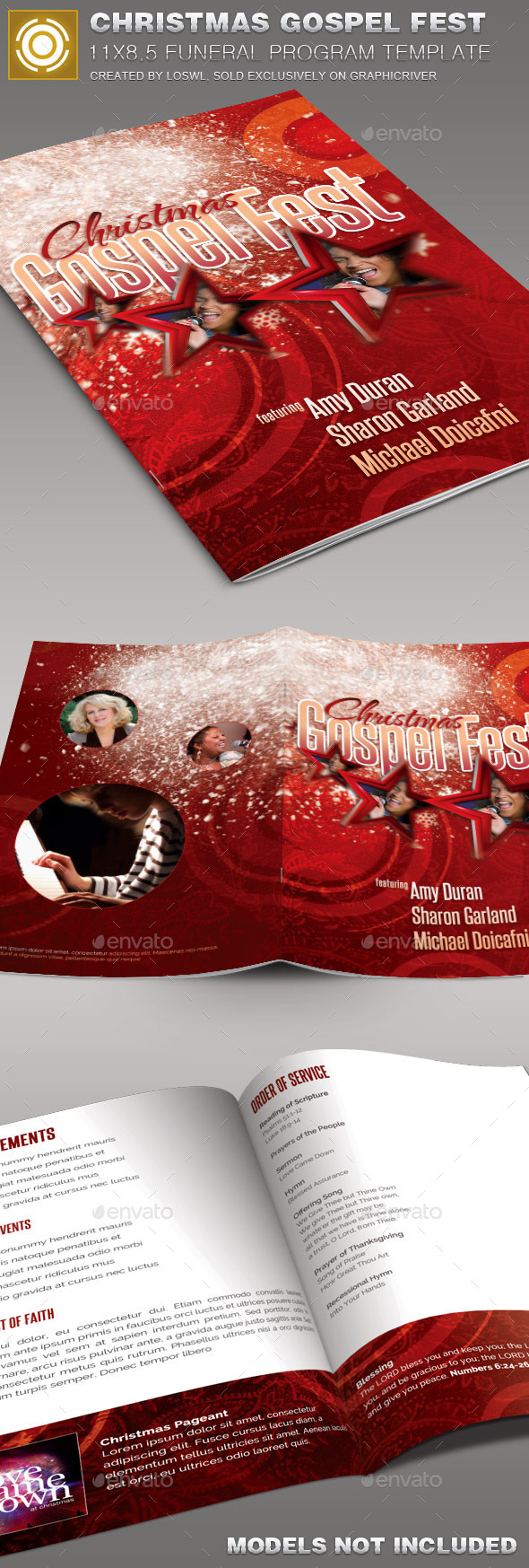 GraphicRiver Christmas Gospel Fest Church Bulletin Template 10090799