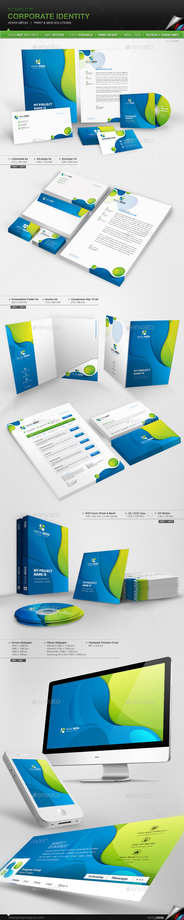 GraphicRiver Corporate Identity Xenya Media 10100159